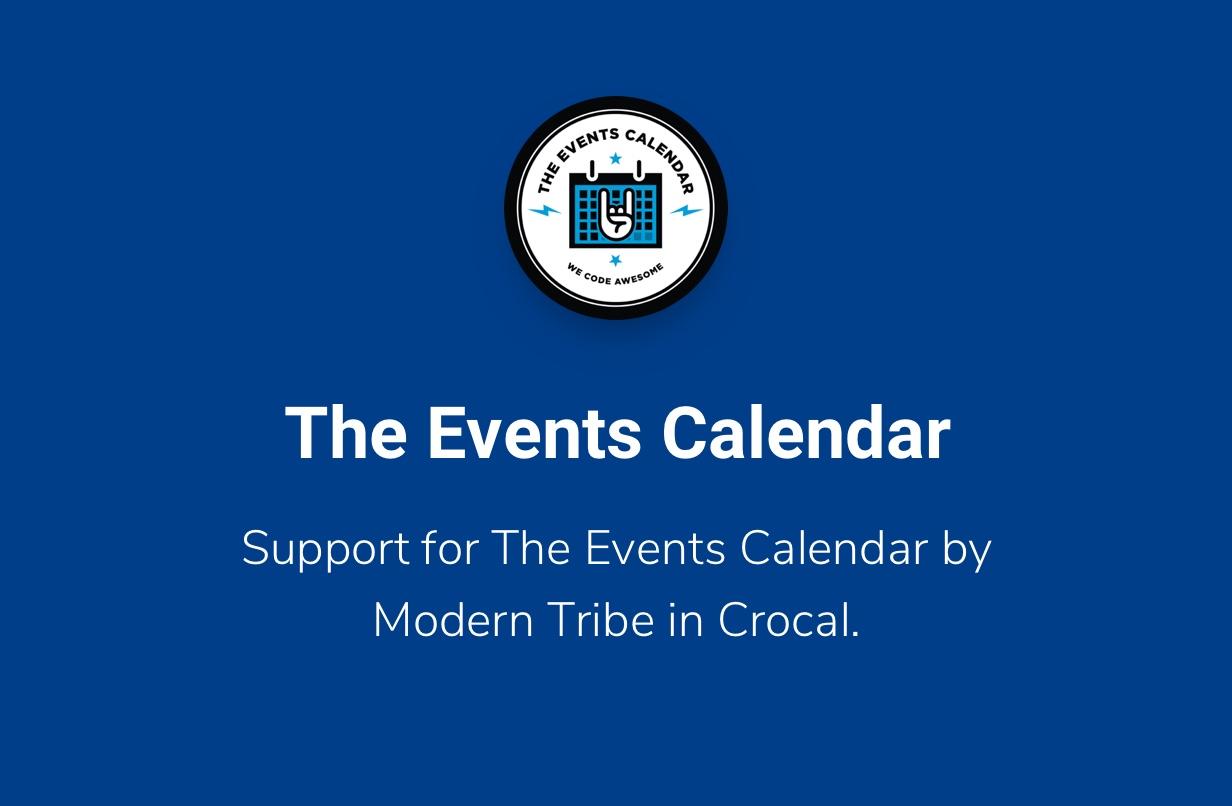 Crocal Events Calendar