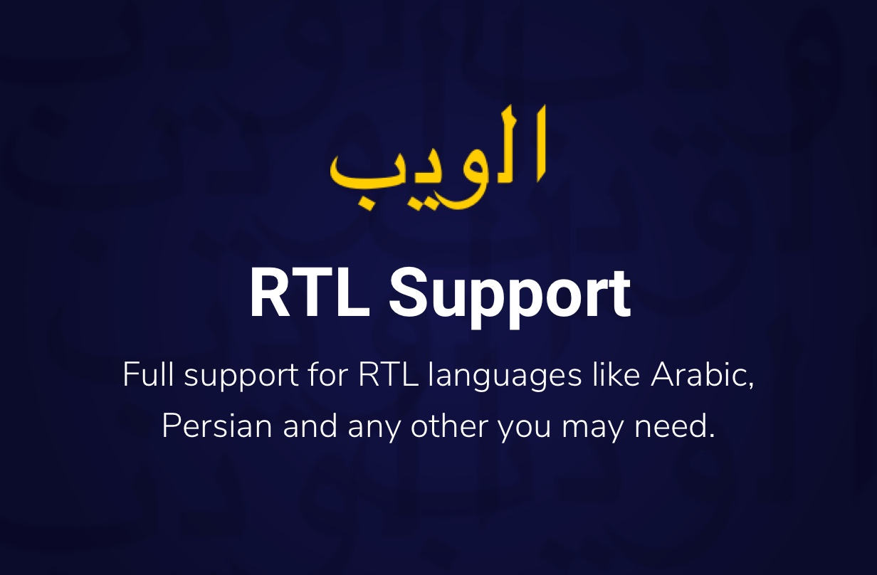 Crocal RTL support
