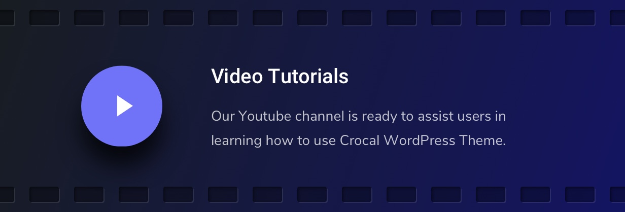 Crocal Video Tutorials