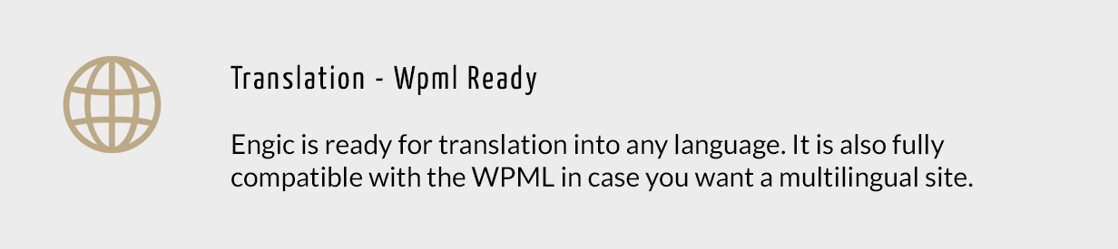 Translation - Wpml Ready