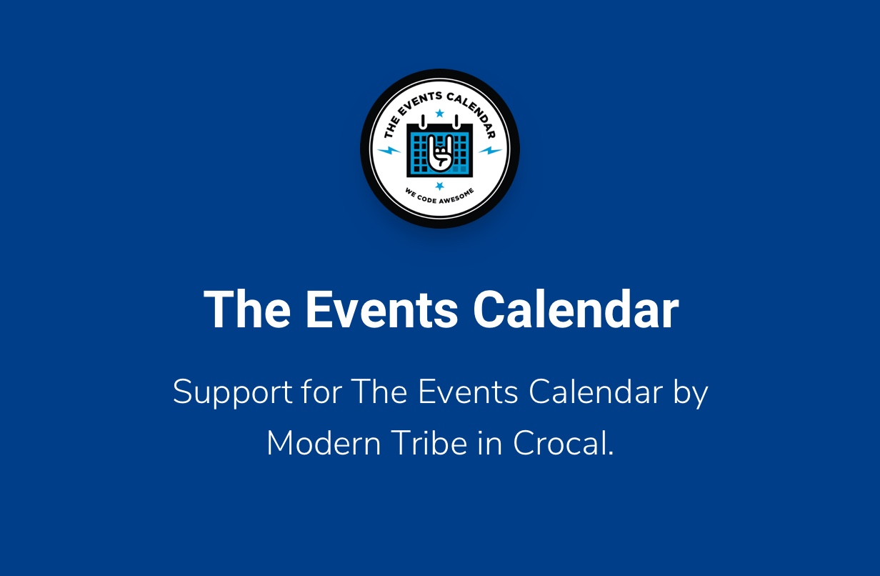 Crocal Events Calendar