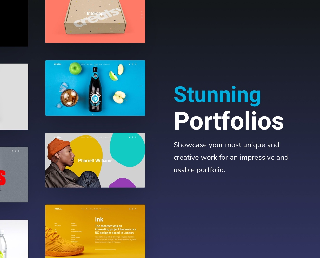 Crocal Portfolio Showcase